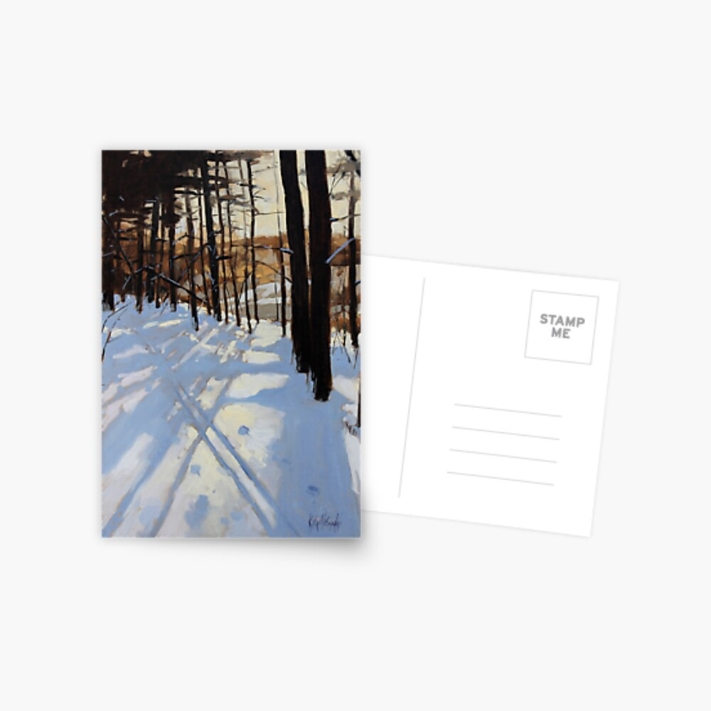 Skiing Beaver Pond Trail Postcard