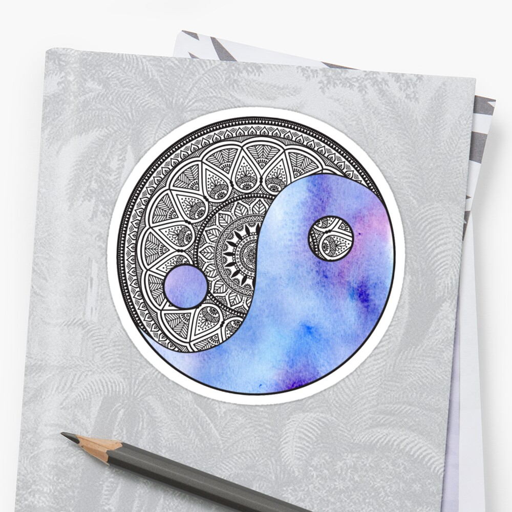 Watercolor Yin Yang by happyvalleygirl