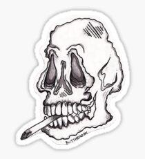 shmokin' skull Sticker
