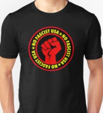 No Fascist USA (red) T-Shirt
