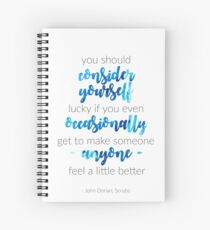 Scrubs Finale Quote Spiral Notebook
