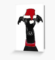 greyhound xmas Greeting Card