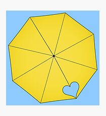 Gelber Regenschirm - HIMYM Design (alternate) Fotodruck
