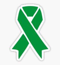 mental health awareness ribbon - single  Sticker