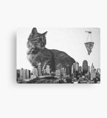 Cat-zilla Pizza Decoy Canvas Print