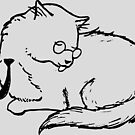 Business Cat - Licking Himself by Tim Gorichanaz