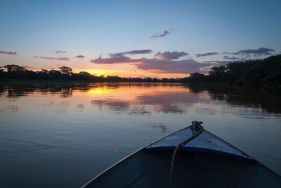 Sunset - Rio Pardo, Brazil by Eric Cook