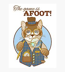 Steampunk Cat Detective Photographic Print