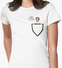 HELLO MY LOVE! Yolanda Foster Pocket Deco Womens Fitted T-Shirt
