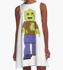 Zombie Lego Man A-Line Dress