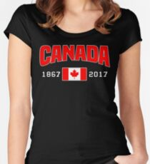 Canada 150 Anniversary Women's Fitted Scoop T-Shirt