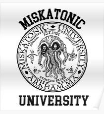 MISKATONIC UNIVERSITY HP LOVECRAFT  Poster