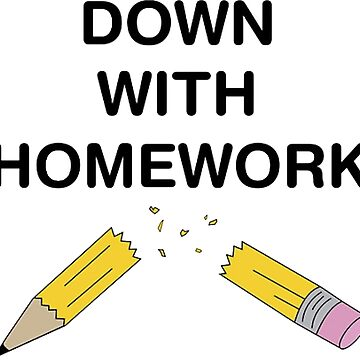 Down With Homework - The Simpsons by cvx-official