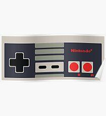 Nintendo NES Controller Sticker Poster