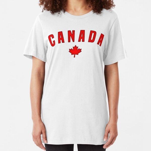 Canada Maple Leaf Slim Fit T-Shirt