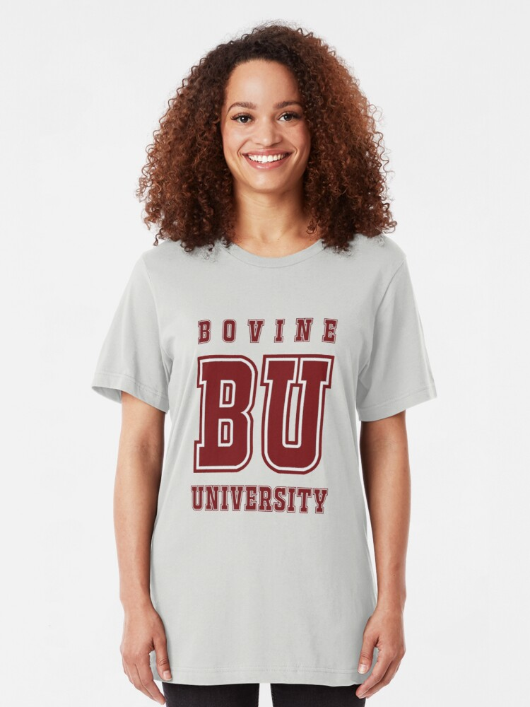 Alternate view of Bovine University - The Simpsons Slim Fit T-Shirt