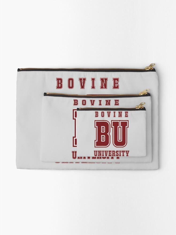 Alternate view of Bovine University - The Simpsons Zipper Pouch