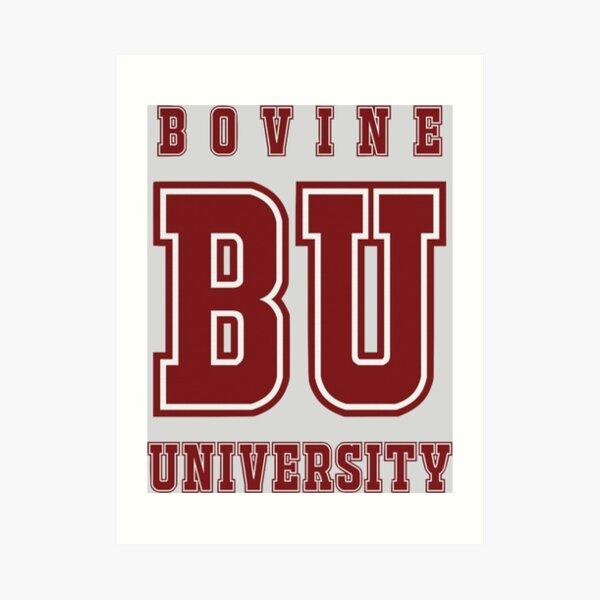 Bovine University - The Simpsons Art Print