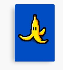 Pixel Banana Skin Canvas Print