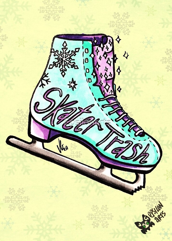 Ice Skater Trash by Epsilonarts