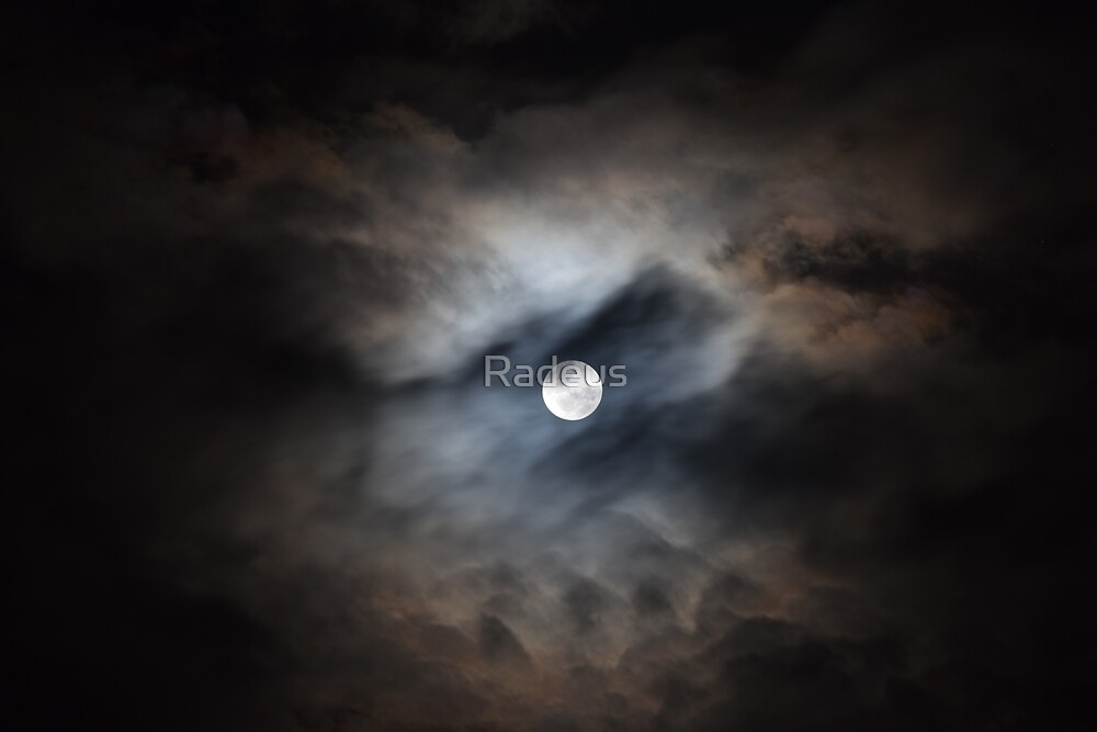 Moonlit clouds by Radeus
