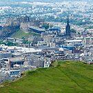 Overlooking Salisbury Crag, Edinburgh by fotosic