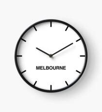 Melbourne Time Zone Newsroom Wall Clock  Clock