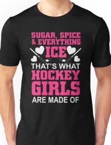 Sugar Spice And Everything Ice Hockey Girls Unisex T-Shirt