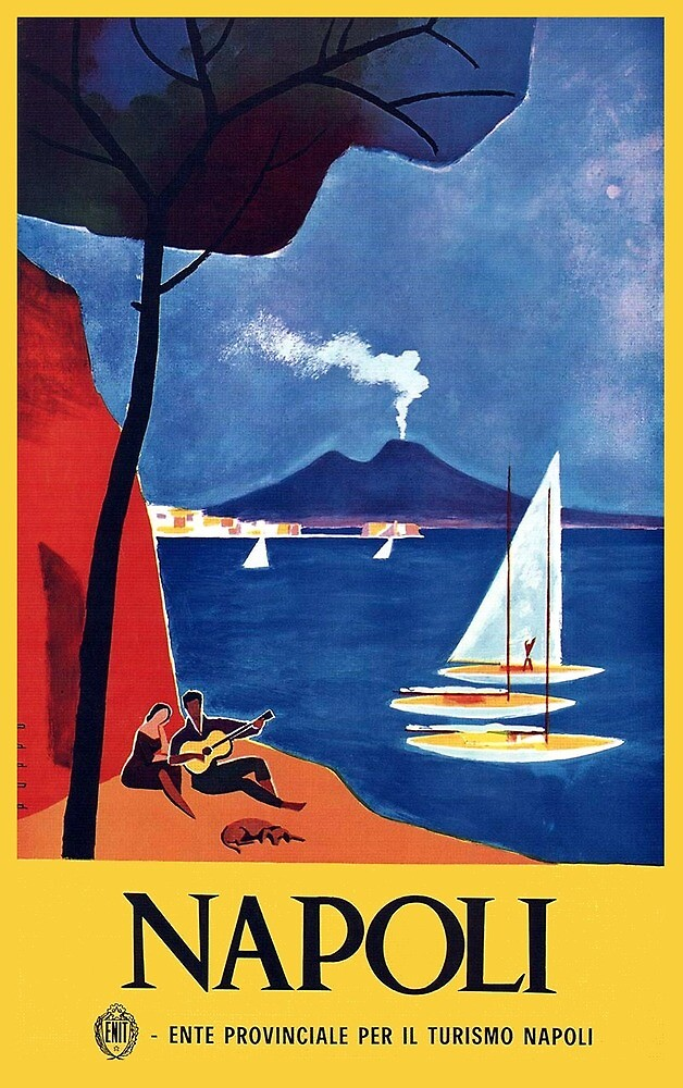 Vintage Naples Italy Travel by pdgraphics
