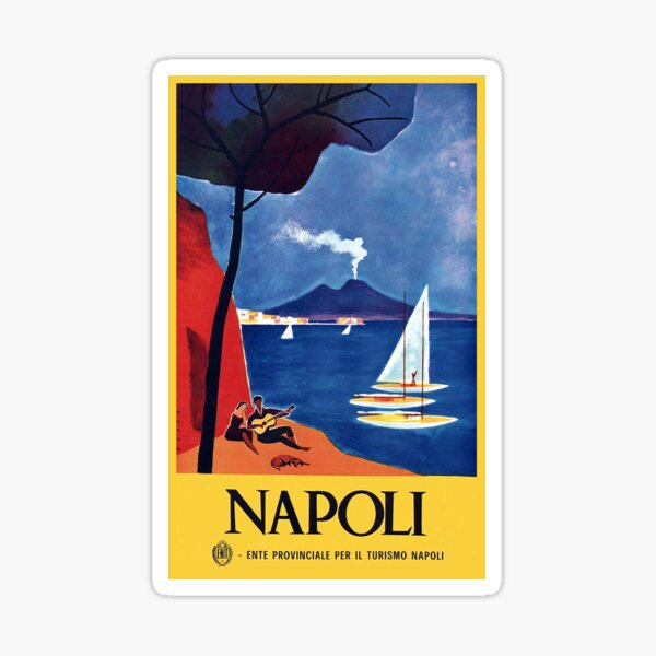 Vintage Naples Italy Travel Sticker