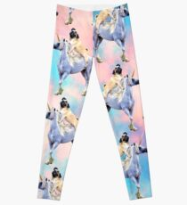 Pug Riding a Unicorn Leggings