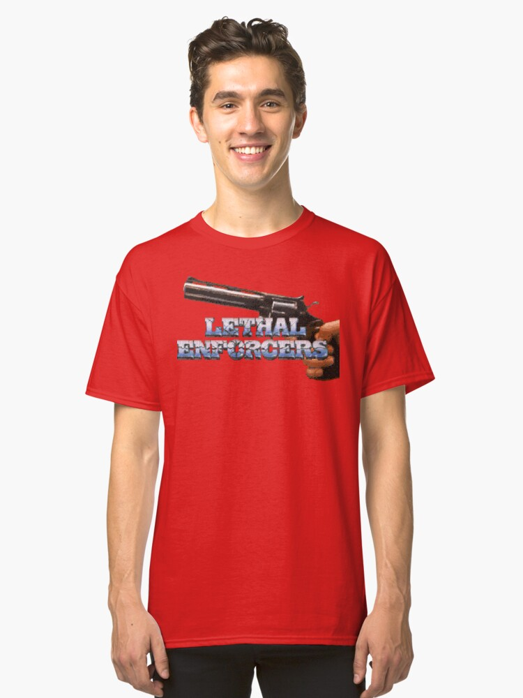 Lethal Enforcers (Genesis Title Screen) Classic T-Shirt Front