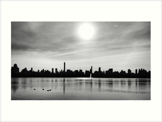 Jackie Onassis Reservoir - Central Park, 2016 by Marc Zahakos