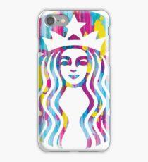 Painted Starbucks Logo 2 iPhone Case/Skin