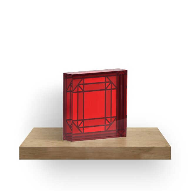 Glass Stained Jewels-Ruby by Juli Kilo Mike