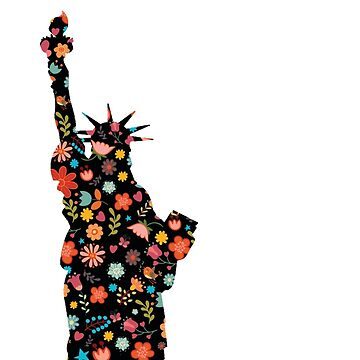 Floral Statue of Liberty by NYStateofMind