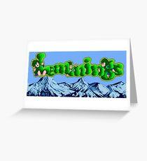 Lemmings (Genesis Title Screen) Greeting Card