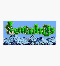 Lemmings (Genesis Title Screen) Photographic Print