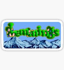 Lemmings (Genesis Title Screen) Sticker