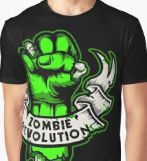 Zombie Revolution! -green- Graphic T-Shirt