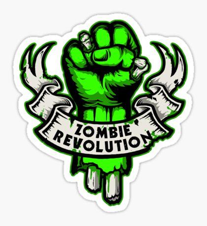 Zombie Revolution! -green- Sticker