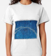 ASTRONOMY NORTHERN CONSTELLATIONS; Vintage Map Print Classic T-Shirt