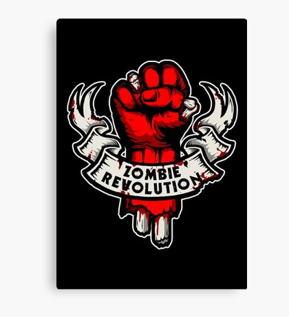 Zombie Revolution! -red- Canvas Print