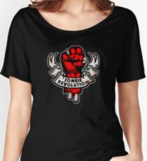 Zombie Revolution! -red- Women's Relaxed Fit T-Shirt