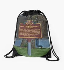 Old West End First Congregational Church Historical Marker Drawstring Bag