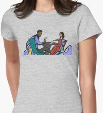 Leia and Lando (The Cardsharps) Women's Fitted T-Shirt