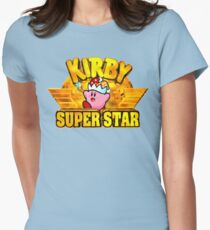 Kirby Super Star (SNES Title Screen) Women's Fitted T-Shirt