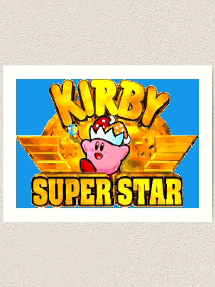 Kirby Super Star Snes Title Screen Art Print By Winscometjump Redbubble