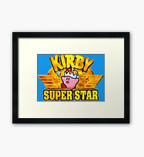 Kirby Super Star (SNES Title Screen) Framed Print