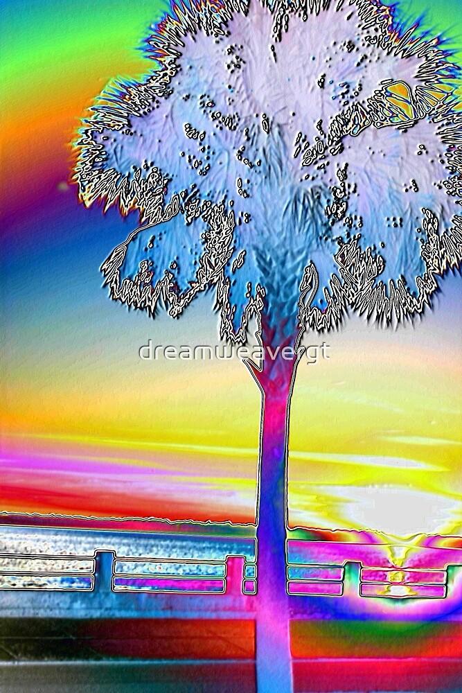 Palmetto rainbow sunset 2 by dreamweavergt